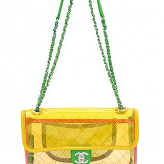 8aa388057360 A MULTICOLOUR PVC & LEATHER COCO SPLASH SMALL FLAP BAG WITH ... CHANEL, 2018