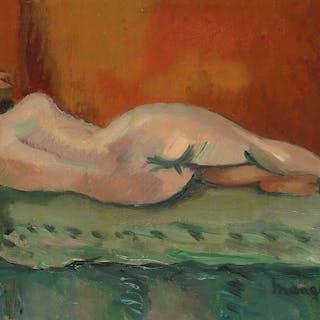 Henri Manguin (1874-1949) Nu couché de dos
