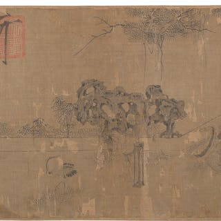 WITH SIGNATURES OF LI GONGLIN (1049-1106) AND ZHAO MENGFU (1... Laozi