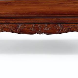 A LARGE RECTANGULAR HUANGHUALI KANG TABLE 17TH CENTURY