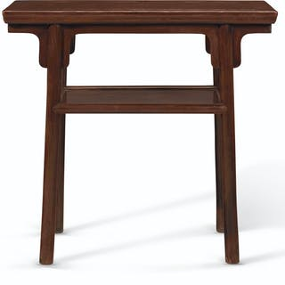 A SMALL HUANGHUALI RECESSED-LEG SIDE TABLE, PINGTOU'AN 17TH CENTURY