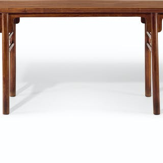 A HUANGHUALI RECESSED-LEG TABLE 17TH-18TH CENTURY