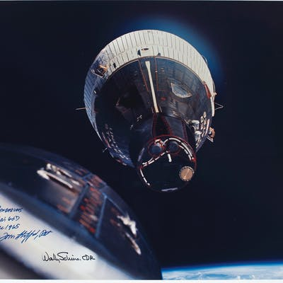 ORBITAL RENDEZVOUS – Photograph signed by Tom STAFFORD and W...