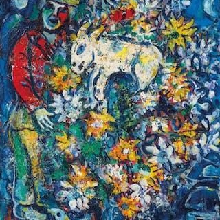 uk availability f2c2b e3b23 Marc Chagall (1887-1985) Fleurs ou Le bouquet champêtre ... – Current sales  – Barnebys.com