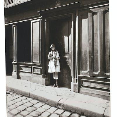 EUGÈNE ATGET (1857–1927) Prostitute (with fox fur stole)...