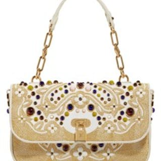 feb0b993fe A LIMITED EDITION LES EXTRAORDINAIRES JEWELED WHITE LEATHER, CROCODILE