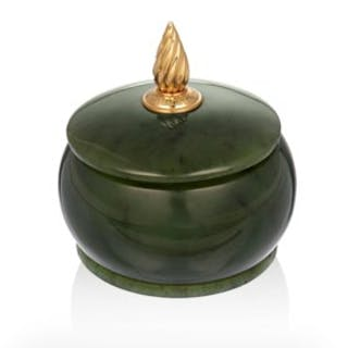 PIAGET NEPHRITE AND GOLD TRINKET BOX