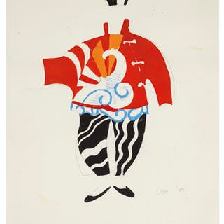 David Hockney (b. 1937) Sketch for Chinese Conjuror fro...