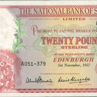 £20 dated 1-11-1957 series A051-379