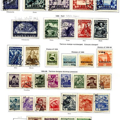 AUSTRIA 1858-1936 valuable collection with comprehensive...