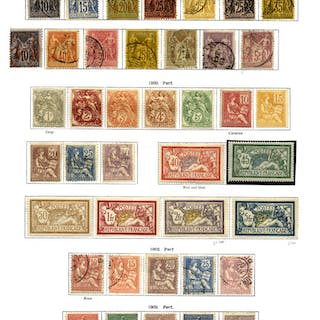 FRANCE 1849-1936 appears a complete collection incl