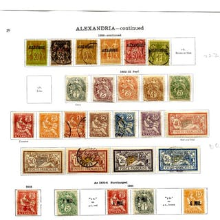 FRANCE (ALEXANDRIA) 1899-1928 collection incl