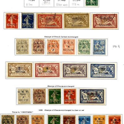 FRANCE (SYRIA) 1919-1936 collection with an extensive range incl