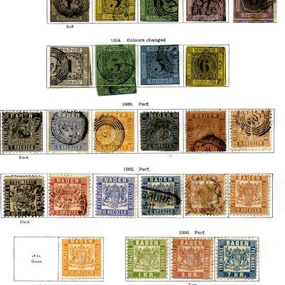 GERMAN STATES BADEN 1851-1920 mainly M