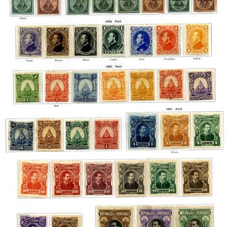 HONDURAS 1866-1935 chiefly M collection on leaves from 1866 Imperfs