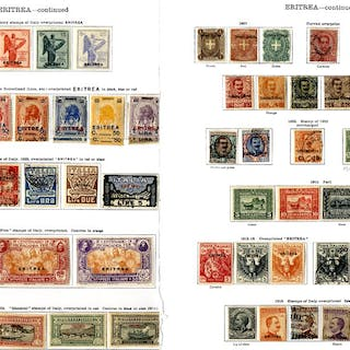 ITALY (ERITREA) 1893-1936 M & U collection with good range of earlies 1893 to 5L