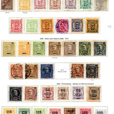 PORTUGAL (ZAMBEZIA) 1894-1914 collection with a good range of issues mixed M & U