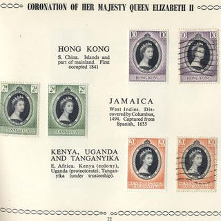 1953 Coronation a complete M set within a special album