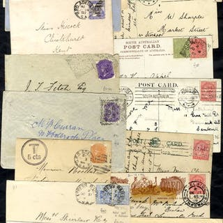 1880's-1910 covers (10) incl