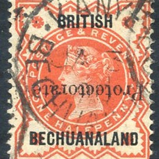 1890 ½d vermilion optd Type 16