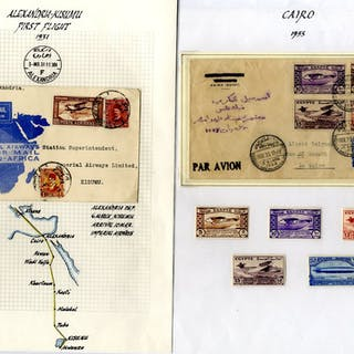 1929-35 collection of first flight covers to or from Egypt to destinations incl