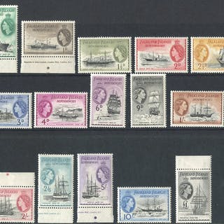 1954 Defin set complete on a cover tied F.I.D
