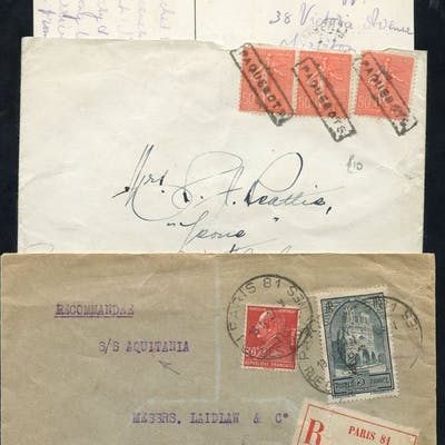 Maritime: various cards & covers with interesting marks...