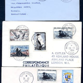 FRENCH SOUTHERN & ANTARCTIC TERRITORIES 1962-64 covers...