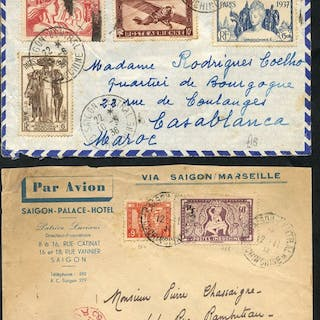 INDO-CHINA airmails - mainly 1930's covers flown to...