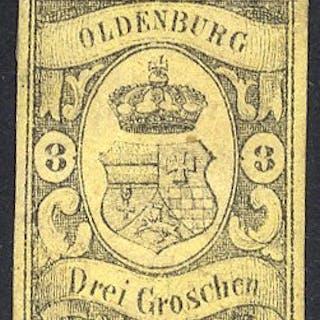 OLDENBURG 1859 3g black/yellow