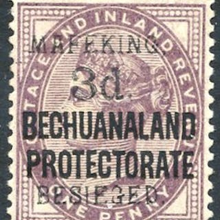 1900 3d Bechuanaland Protectorate on GB 1d lilac