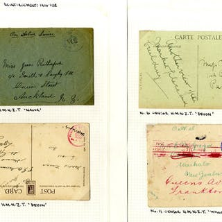 WWI Censor Handstamps A collection of envelopes (8) and...