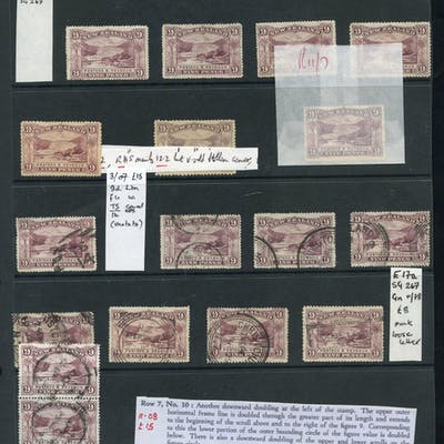 1898 9d Terraces - a useful selection with 7 mint