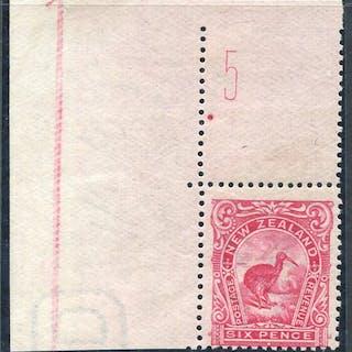 1907-08 6d Kiwi