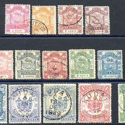 1888-92 Postage & Revenue set incl