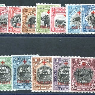 1918 Red Cross surcharged 4c set