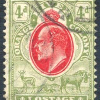 1905-09 4d variety 'IOSTAGE' for 'POSTAGE' U