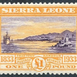 1933 Centenary £1 violet & orange