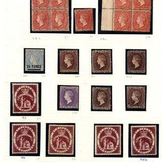 1863-99 QV Profile Heads chiefly M collection on leaves incl