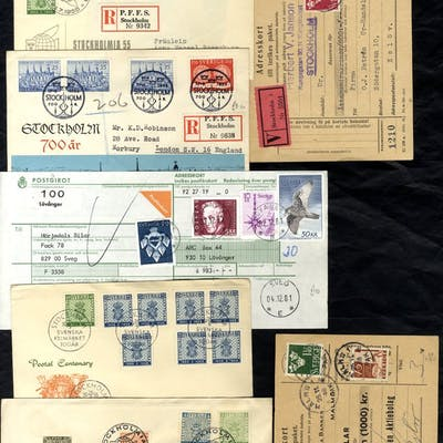 Post-WWII lot of commercial & philatelic mail including...