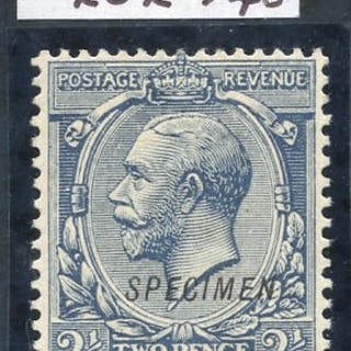 1912 Royal Cypher 2½d dull prussian blue SG.373a optd SPECIMEN Type 23