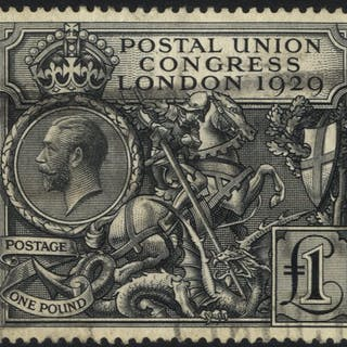 1929 PUC £1 lightly used with parcel cancel