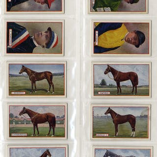 Godfrey Phillips 1923 Derby Winners & Jockeys complete set of 25 cigarette