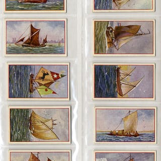 P. J. Carroll & Co 1934 Ship Series complete set of 25 cigarette cards