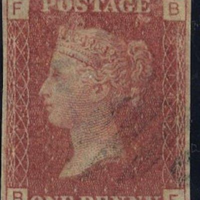 1878 1d Plate Proof Trial cancel SGDP39d