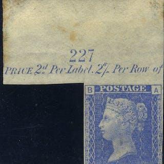 1878 2d Trial in ultramarine marginal