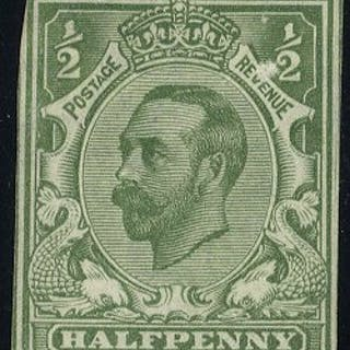 1911-12 ½d Die Proof Colour Trial