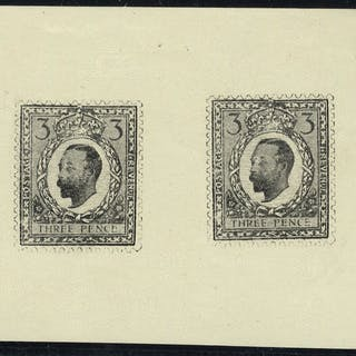 1911-12 Half Tone Essay 3d Small Format two examples