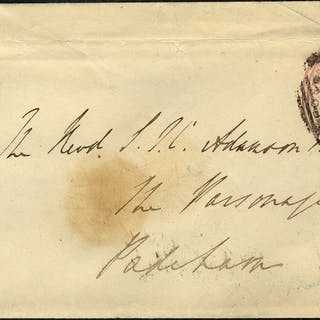 1849 1d pink envelope Whalley undated circle