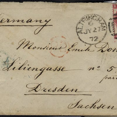 1872 two covers to Germany